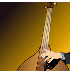 The Musician and the Contrabbasso vector image