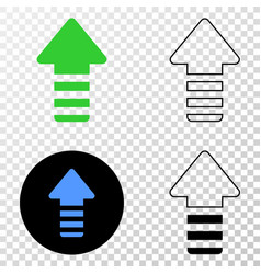 update arrow eps icon with contour version vector image