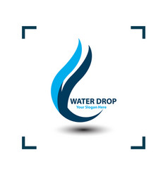 water drop image on white background vector image