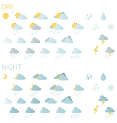 Weather icons isolated on white background vector