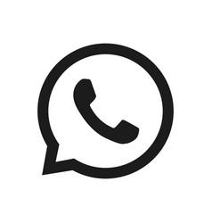 Whatsapp logo phone icon vector