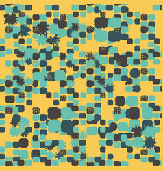 Yellow blue abstract seamless pattern with lines vector