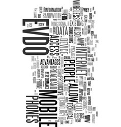 You had me at evdo text word cloud concept vector