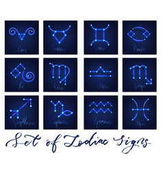 zodiac signs set vector image