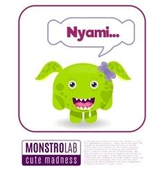 a monster saying nyami vector image