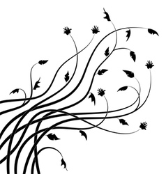 Abstract branch silhouettes vector image