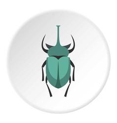 big beetle icon circle vector image vector image
