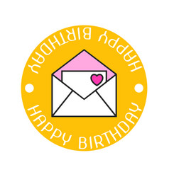 envelope with love letter a heart and the vector image