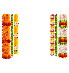flower garland rose and leaves for indian vector image vector image