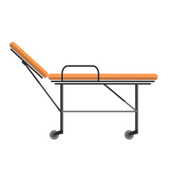 gurney wheeled stretcher used for transporting vector image vector image