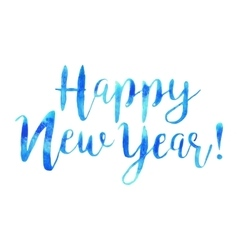 hand drawn isolated text Happy New Year in vector image vector image