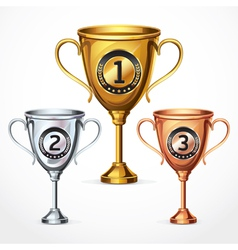 Numbers Trophy Cup Set vector image vector image