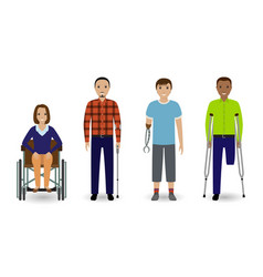 disability people concept group of woman on a vector image vector image