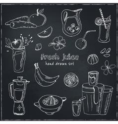 Fresh Juice set Vintage for design vector image