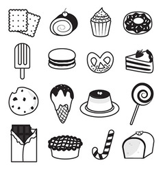 Desserts and Sweets Collection vector image