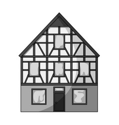 house single icon in monochrome stylehouse vector image vector image