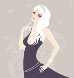 blond model vector image vector image