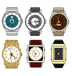 Color watches set vector image