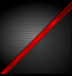 Dark red black tech abstract background vector image vector image