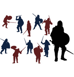 swordsmans vector image
