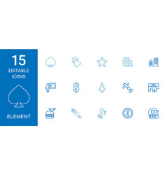 15 element icons vector