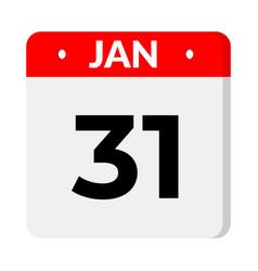 31 january calendar icon vector