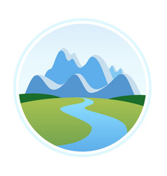Alps in cartoon style vector