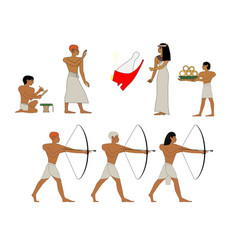 ancient egypt scene of trading egypt murals vector image