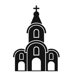 architecture church icon simple style vector image