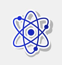 atom sign new year bluish vector image vector image