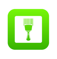 bar code scanner icon digital green vector image