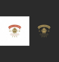 barbecue logo steak house or vector image