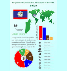 Belize infographics for presentation vector