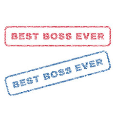 Best boss ever textile stamps vector