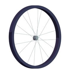 Bicycle wheel icon isometric style vector