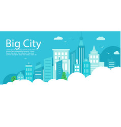 big city landscape can use it as a background for vector image