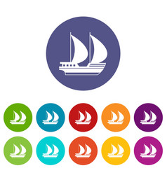big yacht set icons vector image