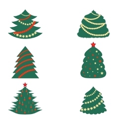 Christmas Trees with Decoration vector