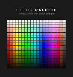 colorful palette full spectrum colors vector image