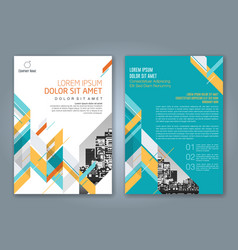 cover annual report 883 vector image