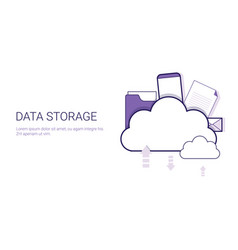 data storage cloud computing business concept vector image