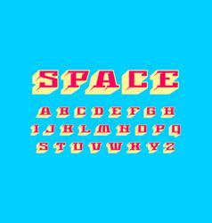 Decorative geometric slab serif bulk font vector