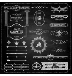 Design elements chalk texture vector