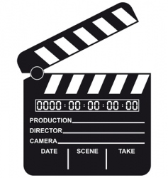 digital movie clapboard vector image