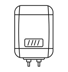 digital panel boiler icon outline style vector image