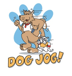 Dog jog vector
