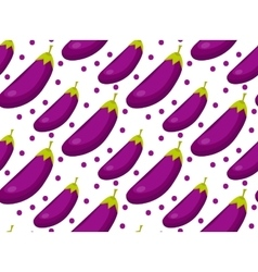 Eggplant seamless pattern Aubergine endless vector