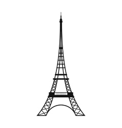 Eiffel Tower icon simple style vector image