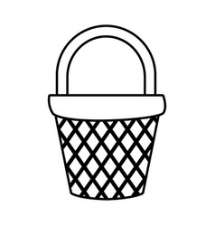 empty basket market vector image