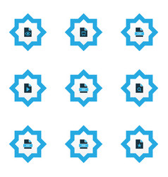 file icons colored set with file cad file psd vector image